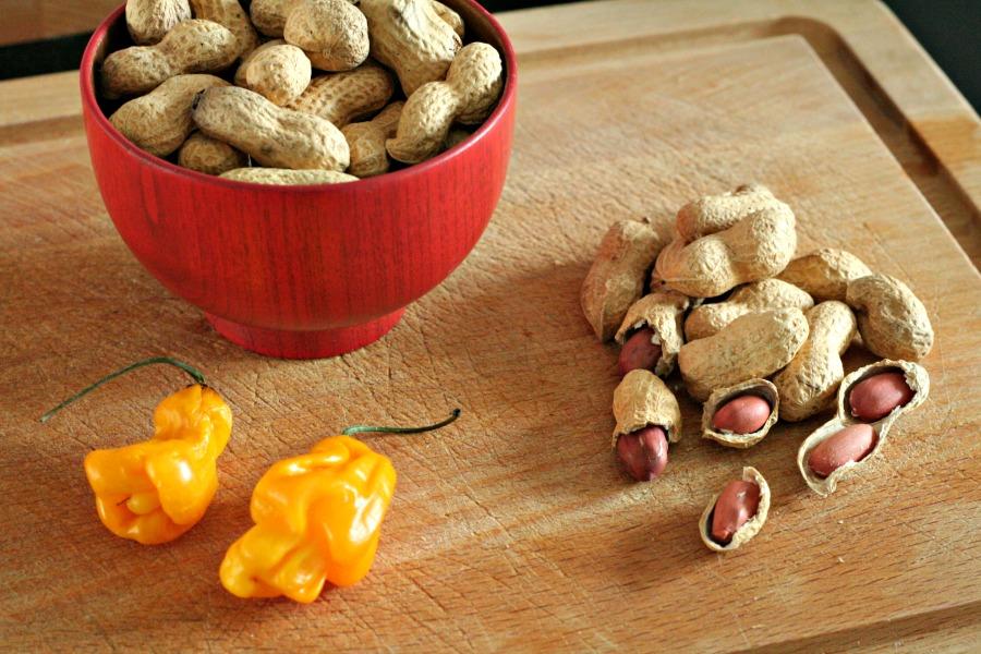 Ingredienten pittige pindakaas