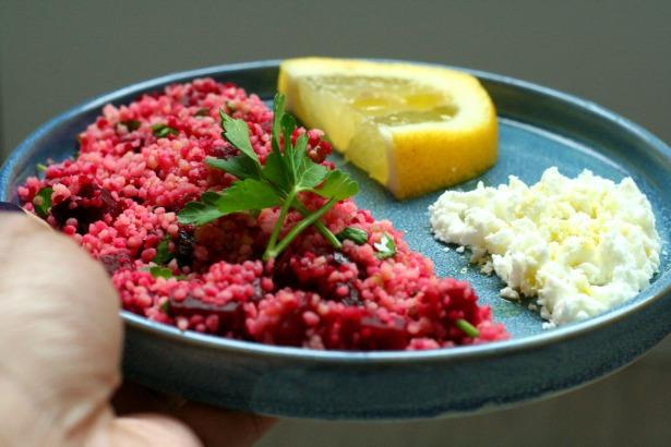 lunch salade couscous biet feta