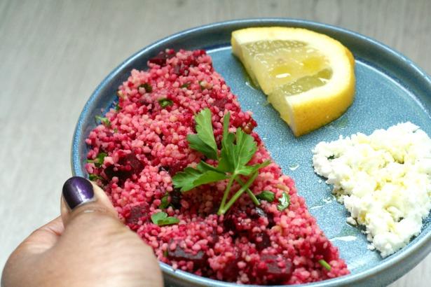 lunchsalade biet couscous