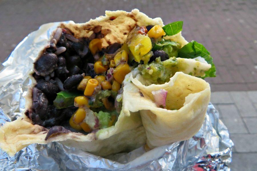 burrito met groenten Salsa Shop Amsterdam