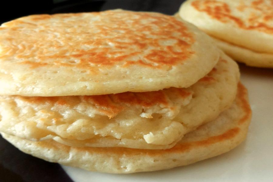 close-up American pancakes