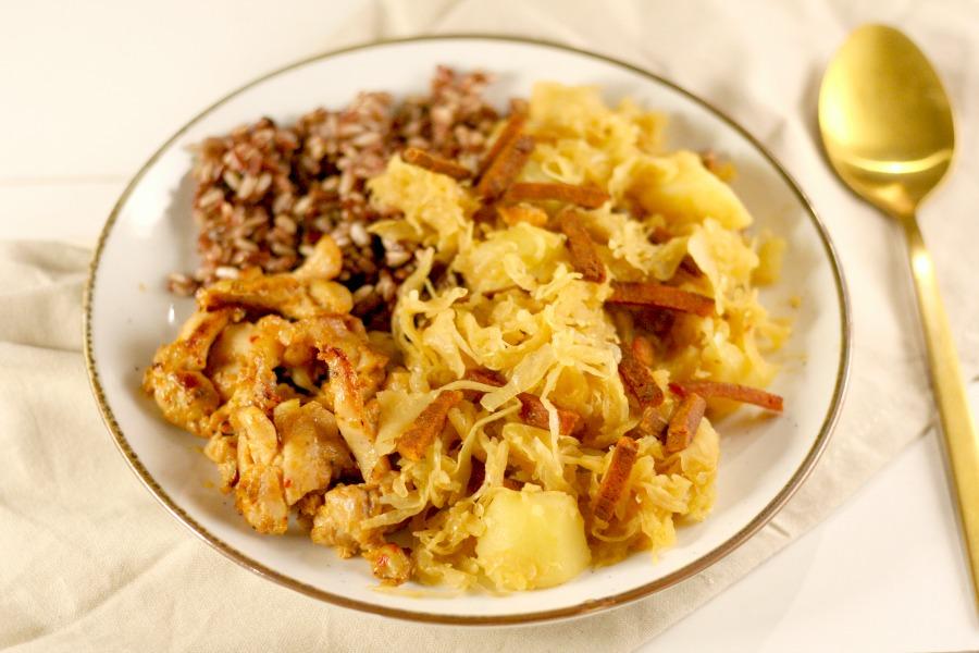 recept Surinaamse zuurkool met rijst