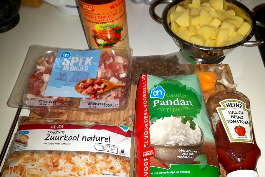 ingredienten-surinaamse-zuurkool-met-rijst