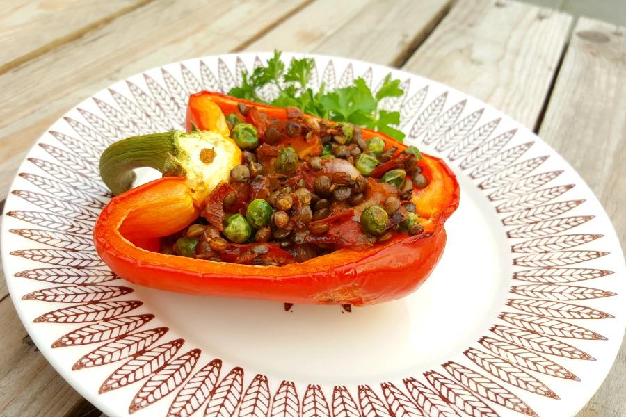 recept-gevulde-paprikas-vegetarisch-linzen-erwtjes