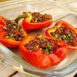 RECEPT: gevulde paprika's met linzen (vega)