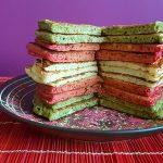 RECEPT: pancakes met kleuren Surinaamse vlag