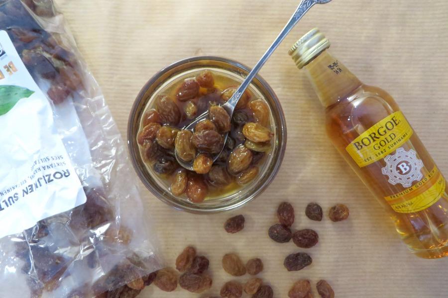 recept boerenjongens rum rozijnen