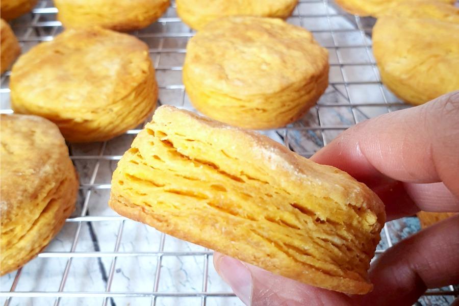 flaky Amerikaanse buttermilk biscuits recept
