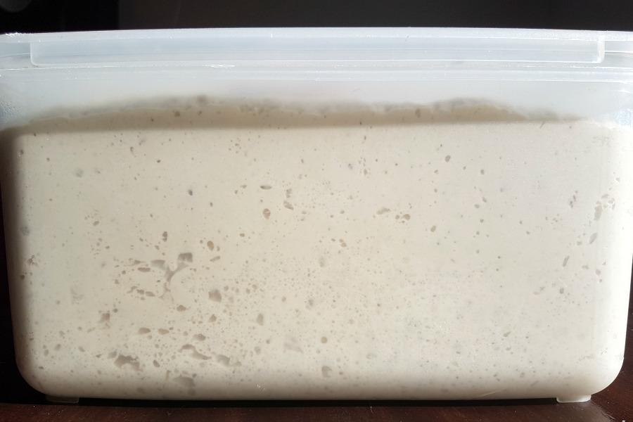 5 minutes a day bread knapperige Surinaamse witte puntjes deeg gerezen
