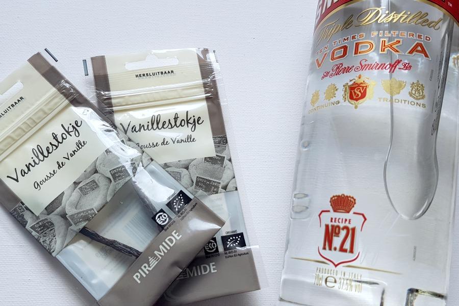ingredienten zelf vanille extract maken