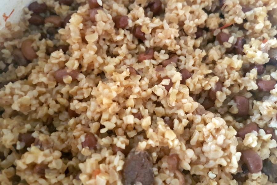 recipe rice and beans Suriname moksi alesi gaar