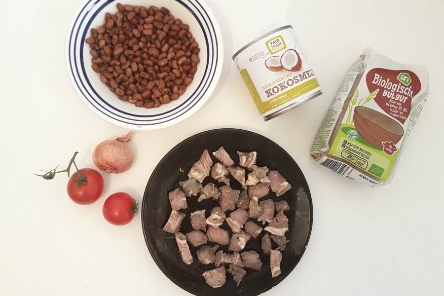 recipe rice and beans Suriname moksi alesi ingredients