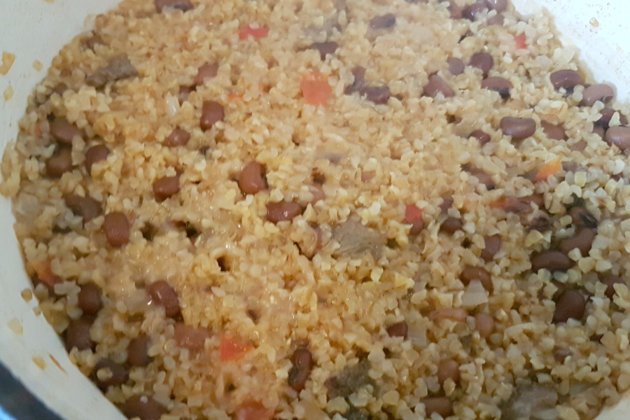 recipe rice and beans Suriname moksi alesi