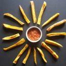 ovenbaked plantain fries recipe recept frietjes van bakbanaan