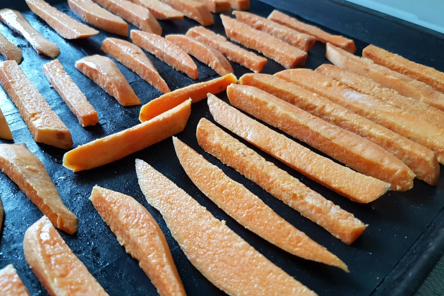 zoete aardappel frietjes recipe baked sweet potato fries