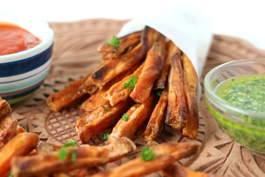 recipe sweet potato fries Recept zoete aardappel frietjes oven