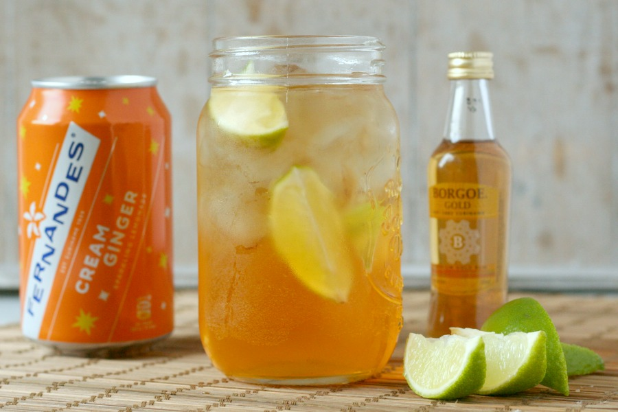 recept Surinaamse cocktail dark n stormy met cream ginger