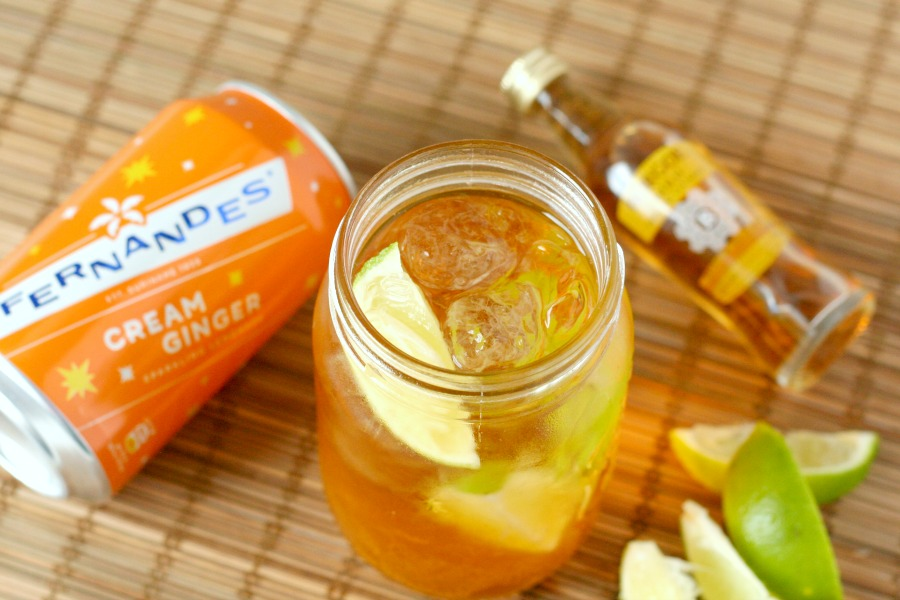 recept Surinaamse cocktail dark n stormy met fernandes cream ginger