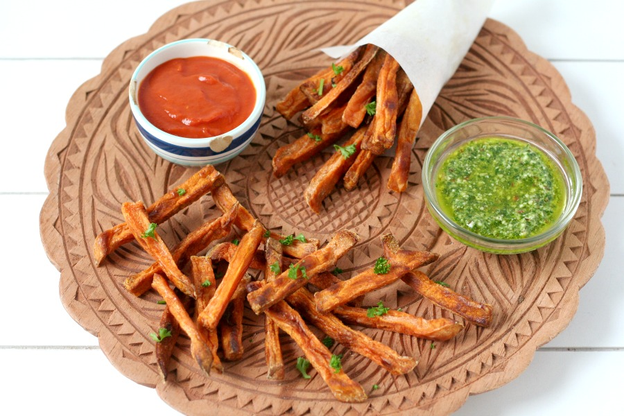 recipe sweet potato recept zoete aardappel frietjes uit de oven