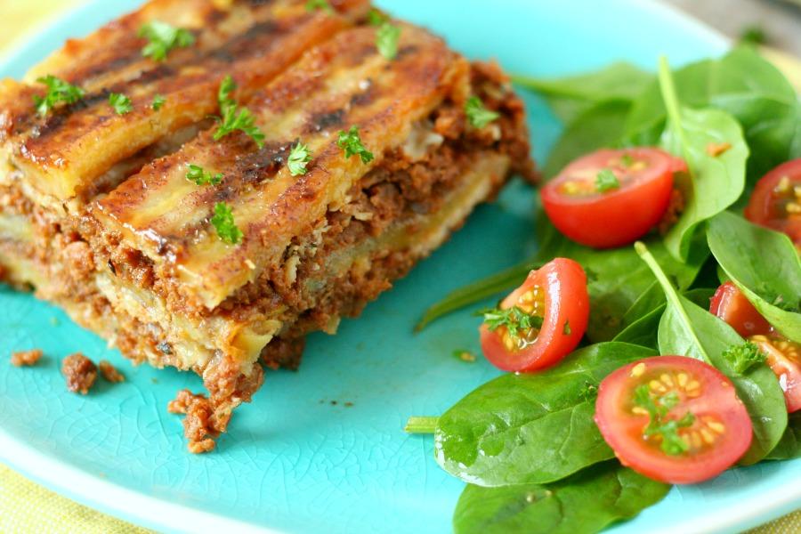 pastelon bakbanaan lasagna plantain recept