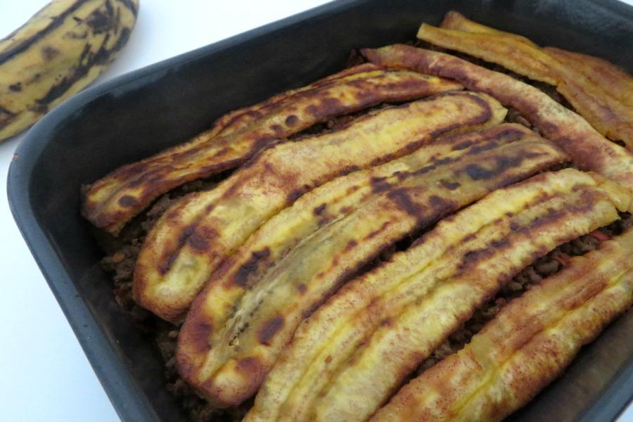 recept plantain lasagna pastelon uit de oven