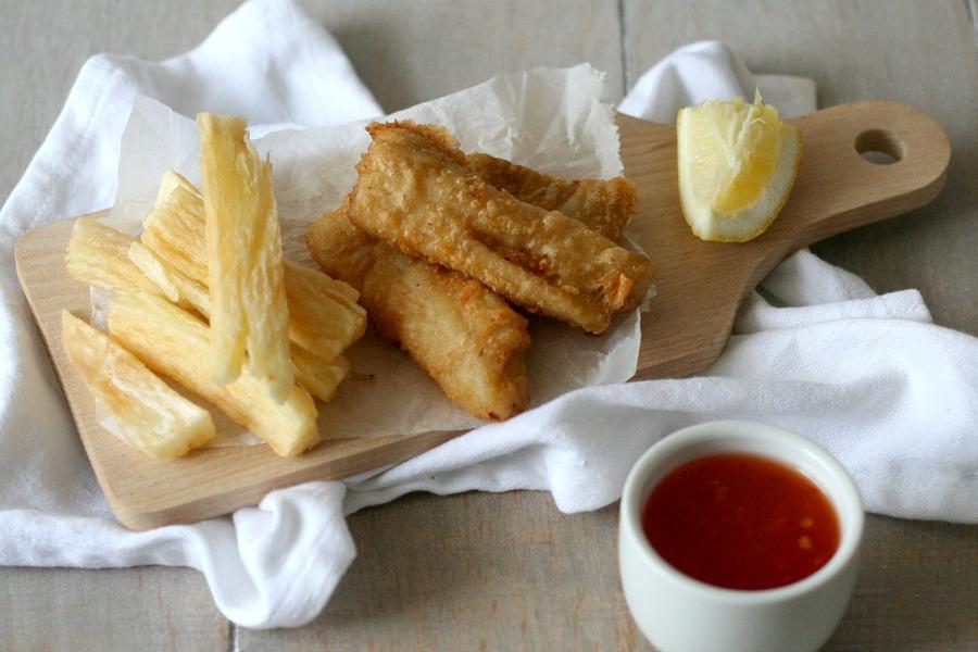 surinaamse fish and chips telo cassave bakkeljauw recept