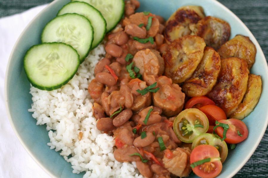 Surinaamse bruine bonen met rijst vegan bb met r
