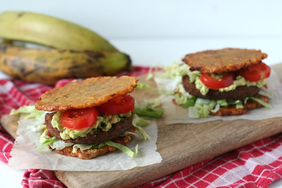 recept plantain sandwich bakbanaan burger