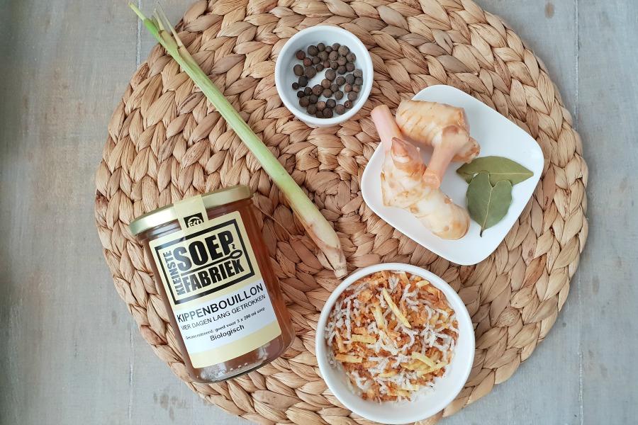 ingredienten recept snelle saoto soep