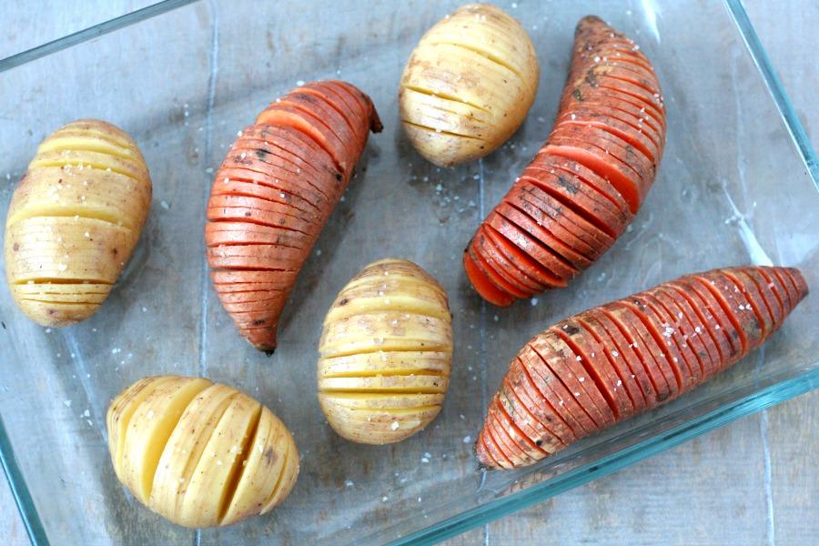 hasselback potatoes recept hasselback aardappelen rauw