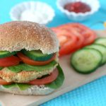 spicy vegaburger van gele spliterwten recept