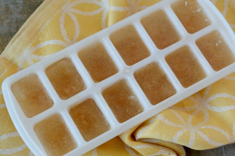 ijsblokjes groentebouillon van restjes