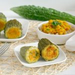 RECEPT: vegan gevulde sopropo (stuffed bitter melon)