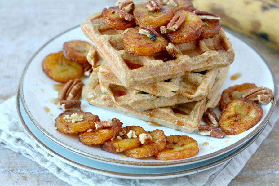 plantain waffles bakbanaan wafels recept