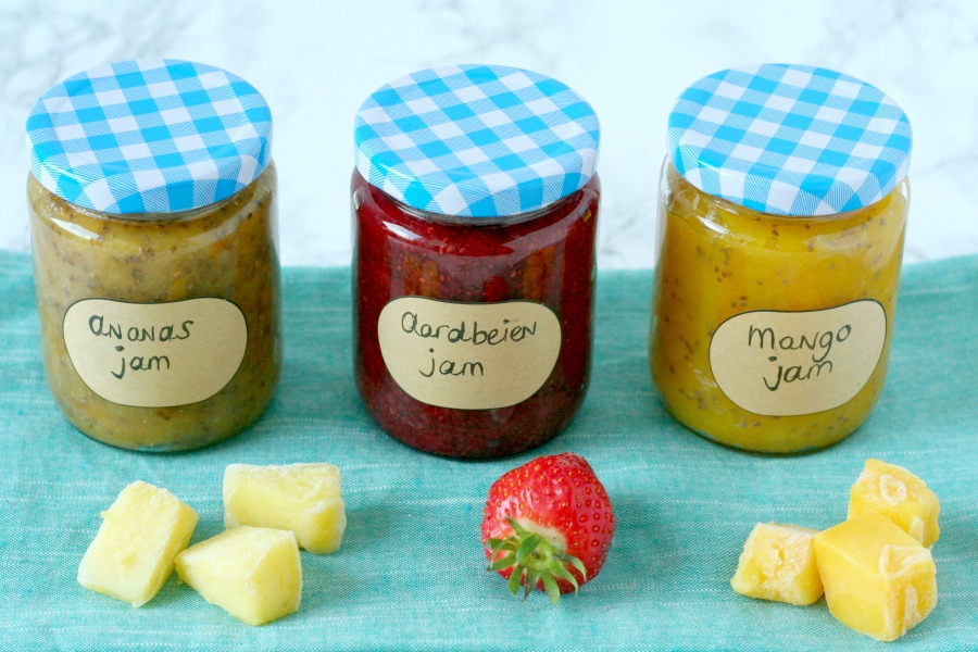 homemade jam zonder suiker tropisch recept