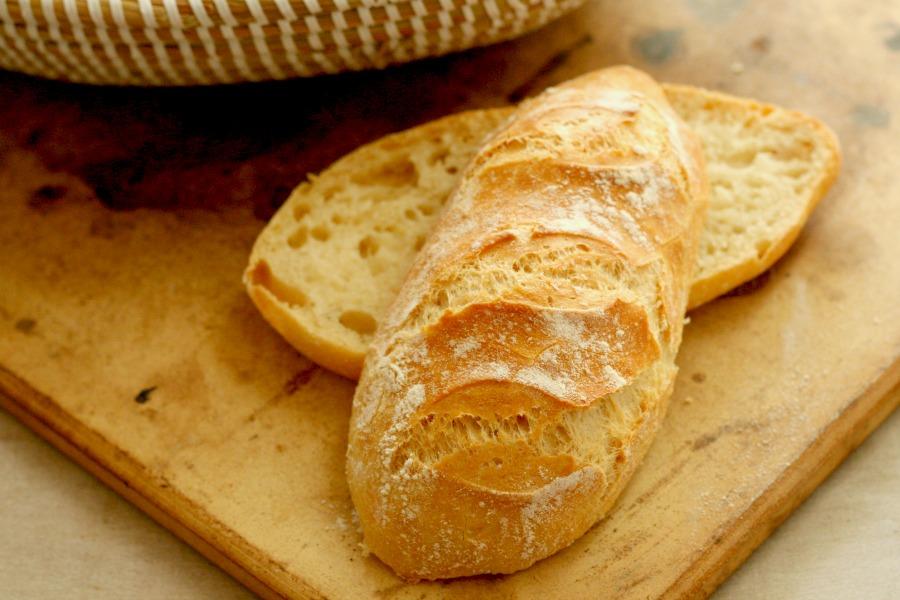 no knead bread recept knapperige Surinaamse witte puntjes